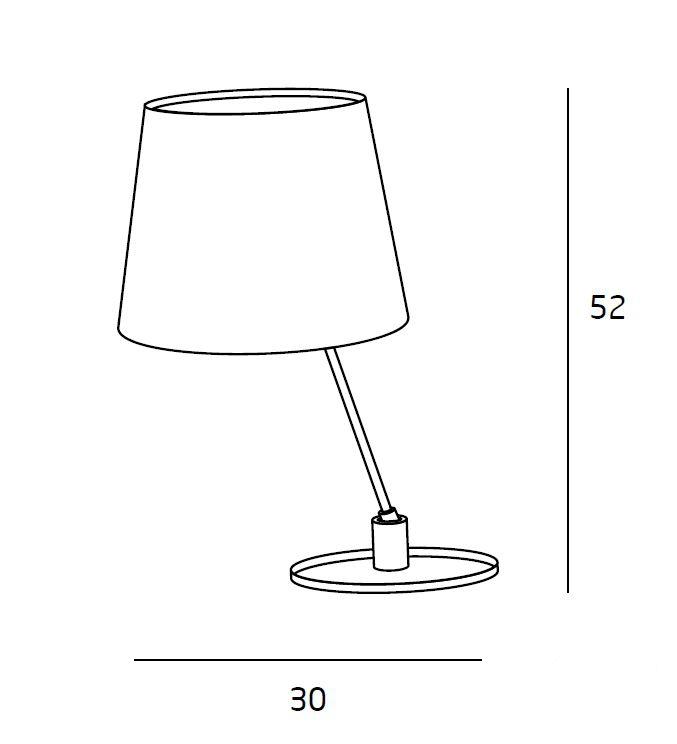 Sydney lampa stołowa 8W LED 3000K 230V złota