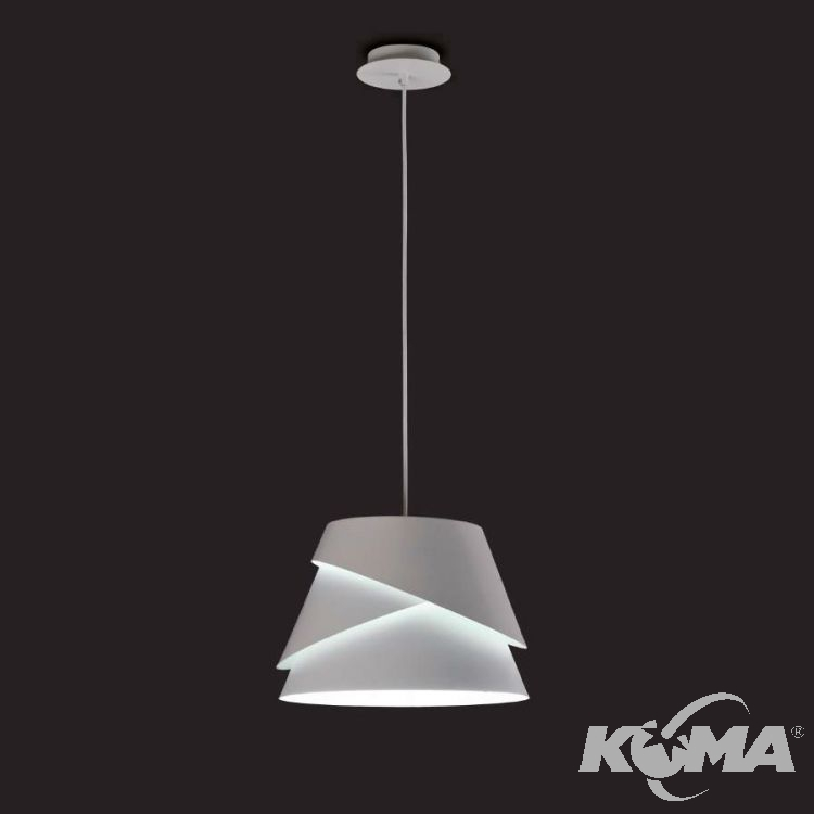 Alboran lampa wisząca 1x40W E27 230V biała