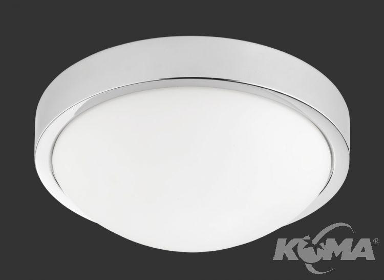 Plafon led 1x18W chrom/biały