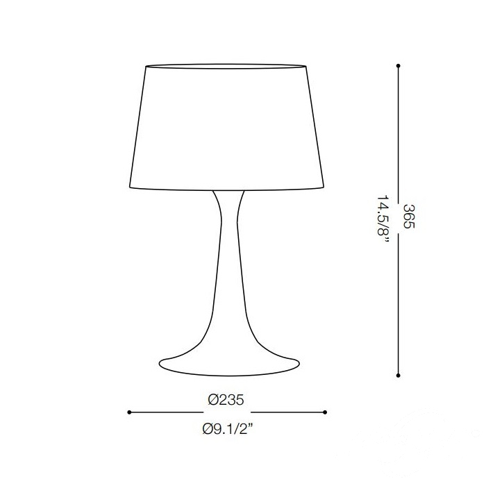London Small lampa stołowa 1x60W E27 230V biała