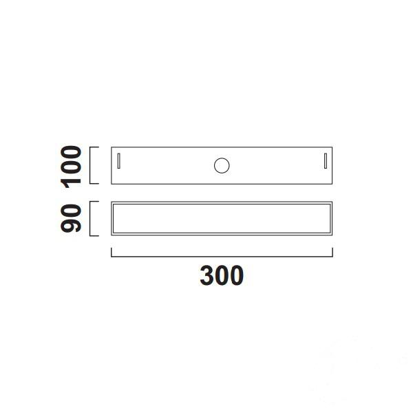 Line 30  N DALI kinkiet LED 1x9.8W C06 - grafit