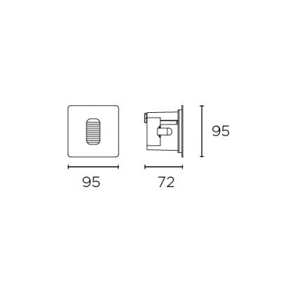 effect kinkiet zewnętrzny Gea LEDS C4