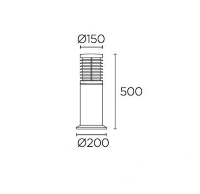 led lampa zewnętrzna Nott LEDS C4