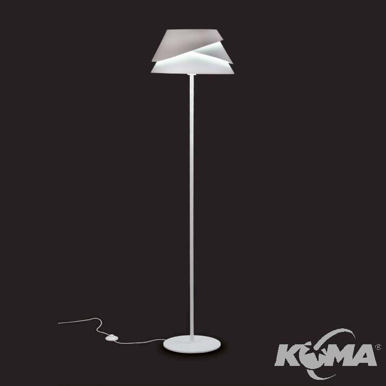 Alboran lampa podłogowa 1x40W E27 230V biała