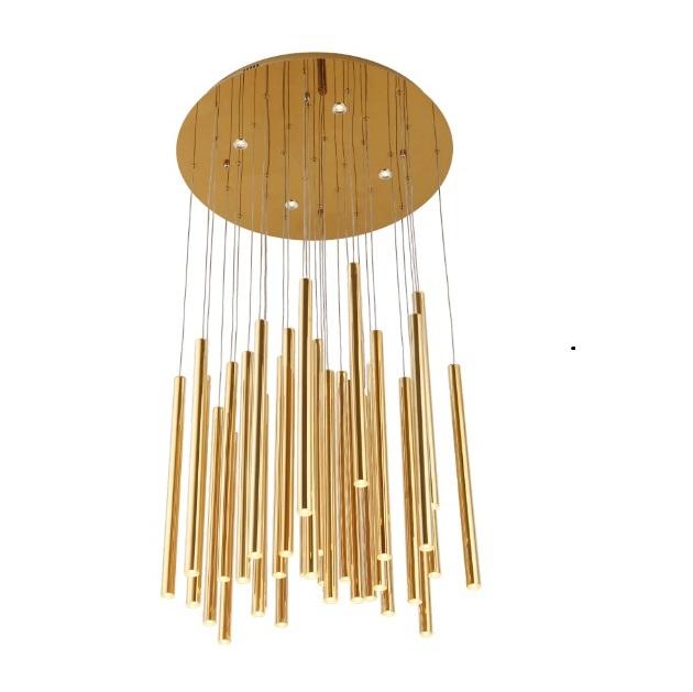 Organic lampa wisząca 33x1W + 4x3W LED 3000K 230V złota