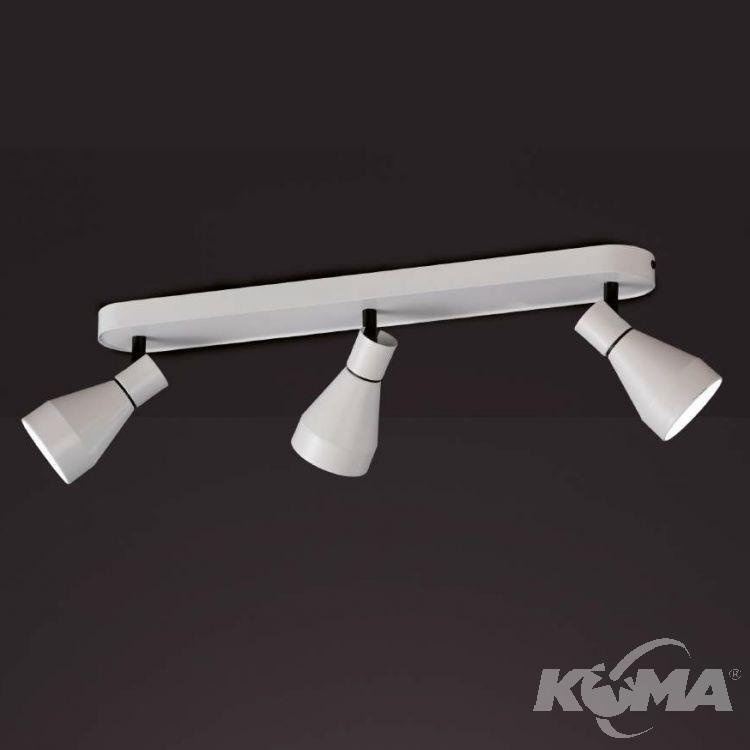Kos reflektor/spot 3x12W GU10 230V biało-czarny