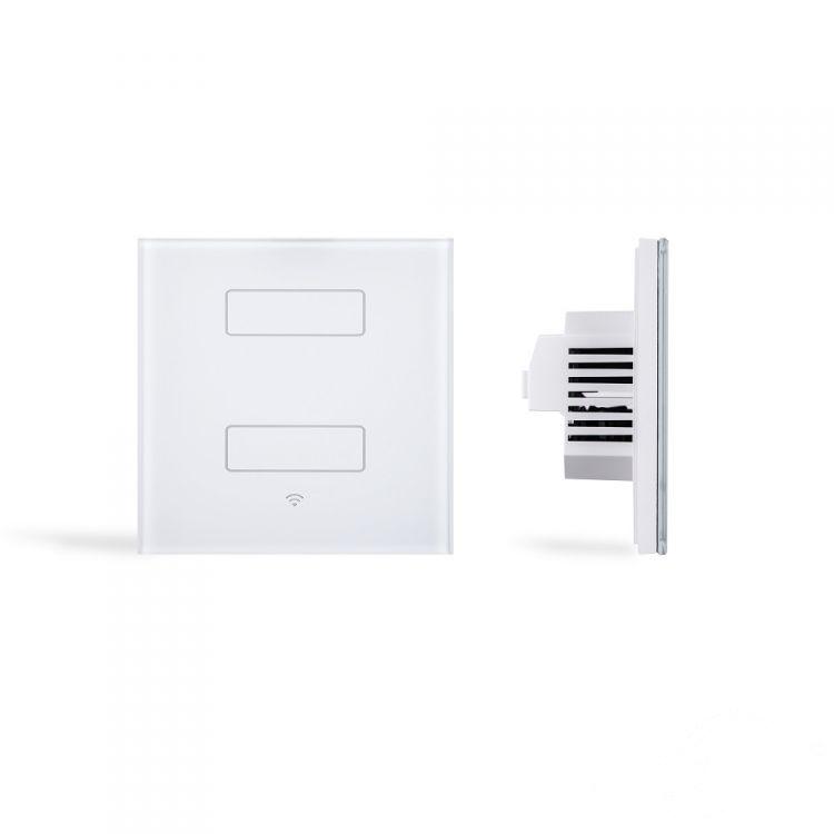 włącznik podwójny biały (zdalnie sterowany) Dotykowy