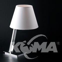 Orlando lampka stołowa 1x40W E27 230V biała / chrom