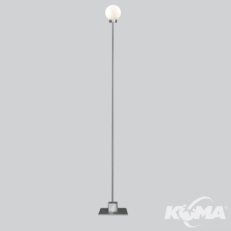 Snowball lampa podłogowa 1x40W G9 230V srebrna