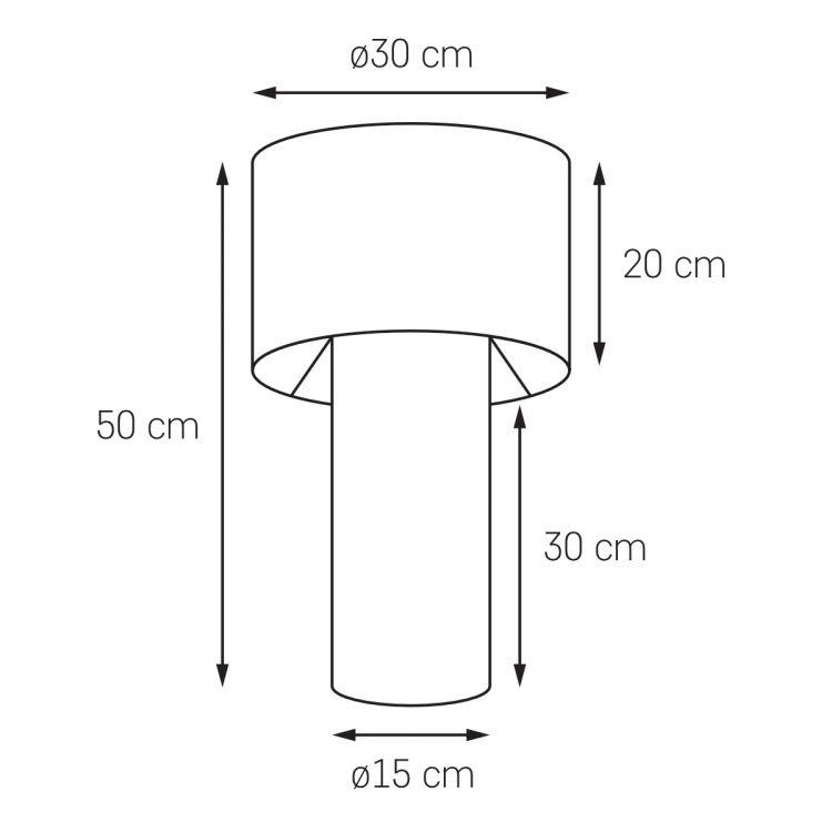 Glam lampa stołowa 1x60W E27 230V chrom / złoty środek + czarne elementy