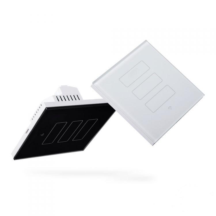 włącznik potrójny biały (zdalnie sterowany) Dotykowy