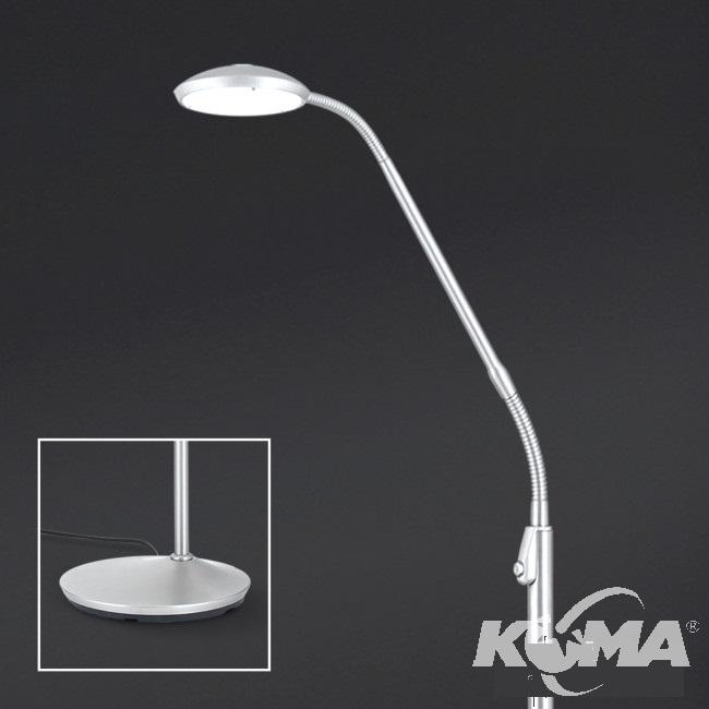 lampa podłogowa satyna nikiel mat Cobra ORION
