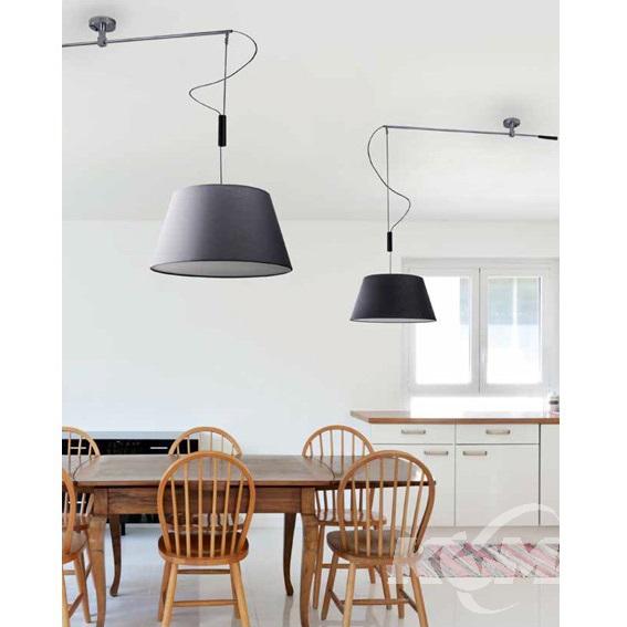 Malaga lampa sufitowa 1x60W E27 230V szara