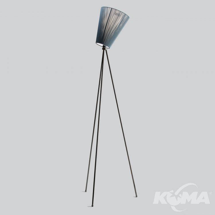 Oppdatert Oslo Wood lampa podłogowa 1x100W E27 230V czarna (połysk) + JK-71