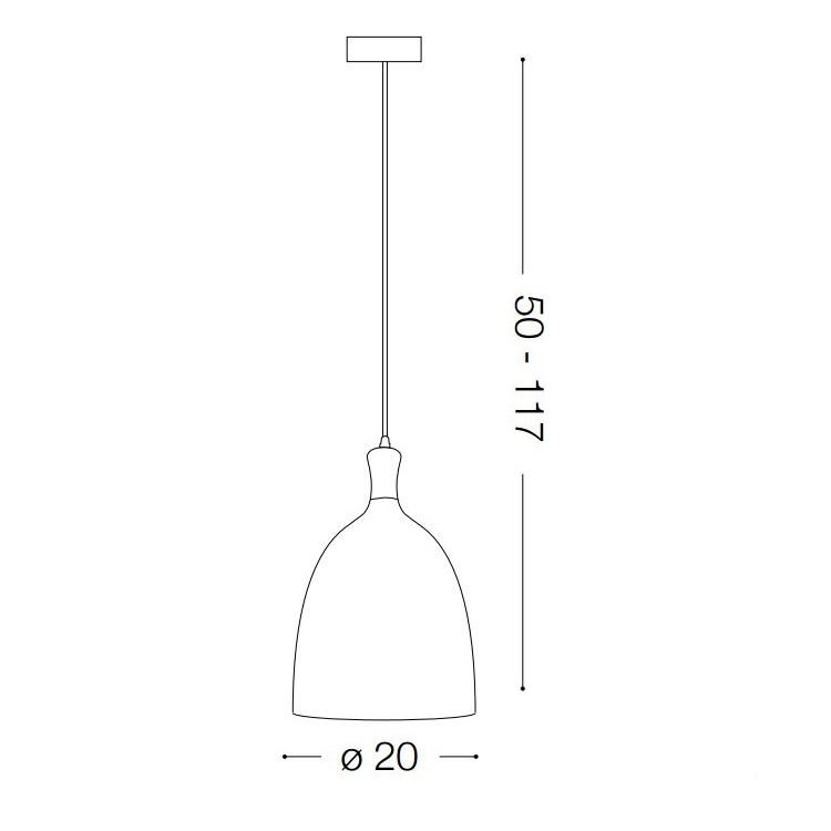 Tuly lampa wisząca 20cm 1x60W E27 230V szara