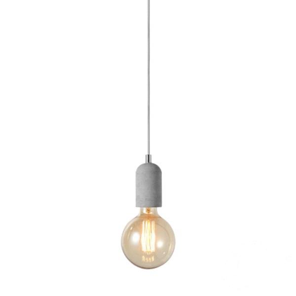 Volta 1 lampa wisząca 1x40W E27 230V beton