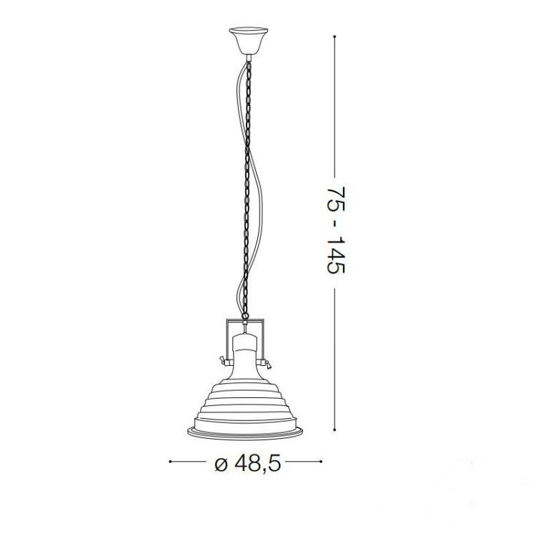 Fisherman lampa wisząca 1x60W E27 230V miedziana