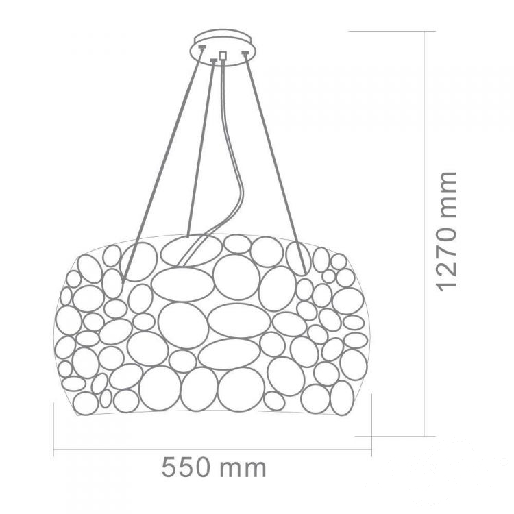 Carera lampa wisząca 6x7W G9 230V złota
