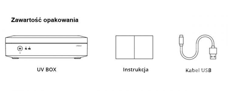 sterylizator pudełko dezynfekujące do urządzeń przenośnych  białe UVC LEDVANCE