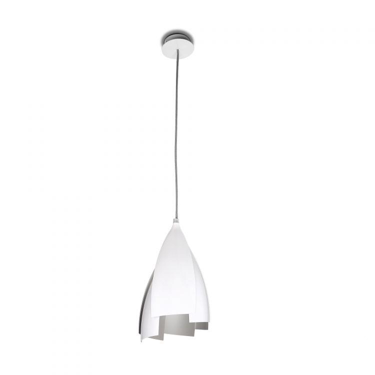 oprawa wiszaca E27/23W bialo/srebrna Tulip LEDS C4