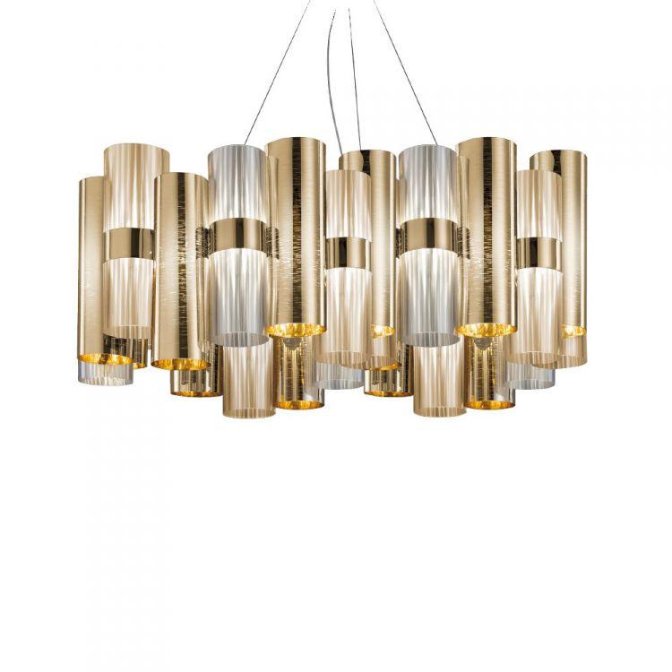 La Lollo lampa wisząca 56W LED 2700K 230V gold fume