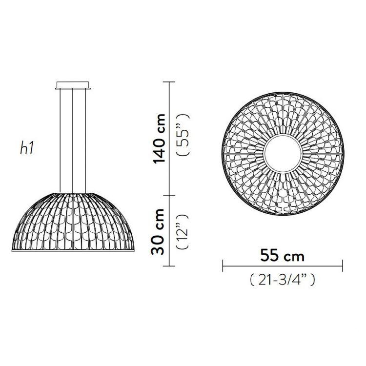 Dome Small lampa wisząca 35W LED 2700K 230V zielona