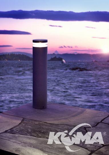 Stavanger grafitowy słupek ogrodowy led 95cm 1x14,7W IP65 a+