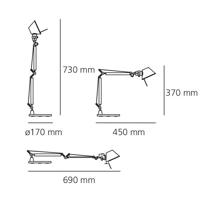lampa stołowa Tolomeo