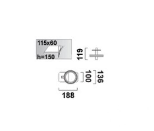 Optique D11 oprawa stropowa G53 1x50W C60 - śnieżnobiały 12V