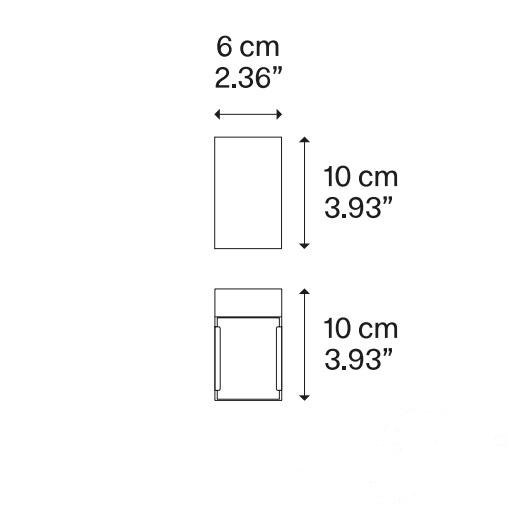 kinkiet biały Laser_cube
