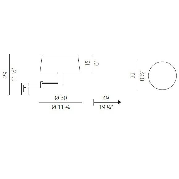 Classic kinkiet 1x53W E27 230V chrom + biały abażur