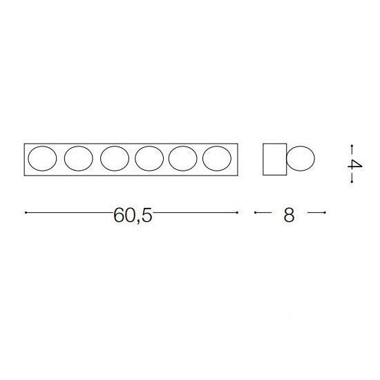 Prive kinkiet 6x40W E14 230V rdzawy