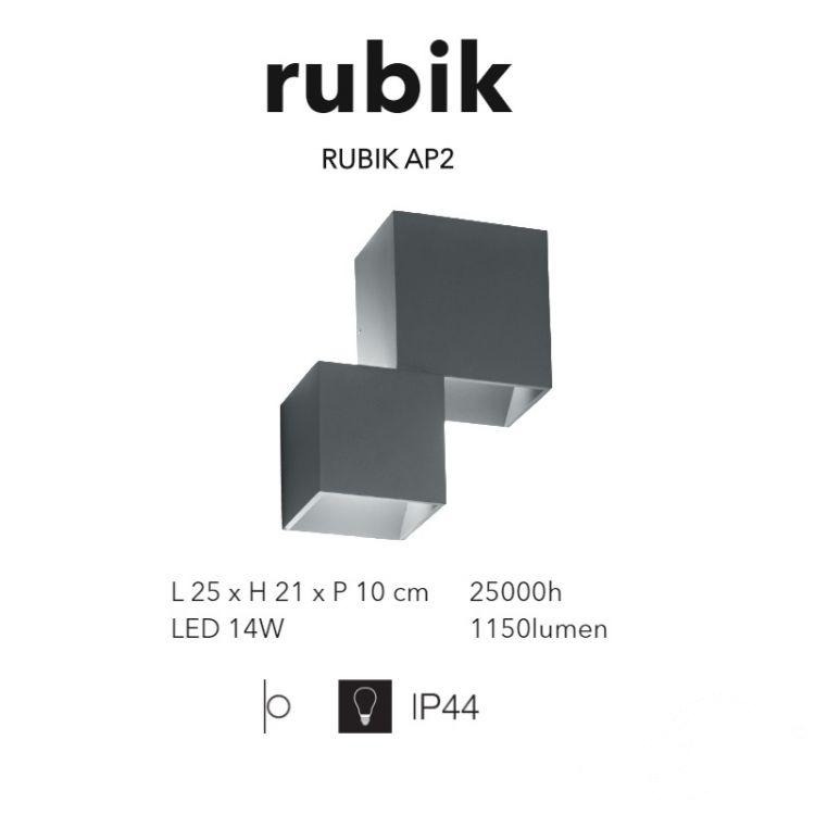 ap2 kinkiet antracyt Rubik IDEAL LUX