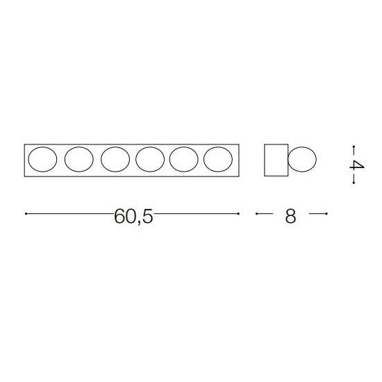 Prive kinkiet 6x40W E14 230V czarny