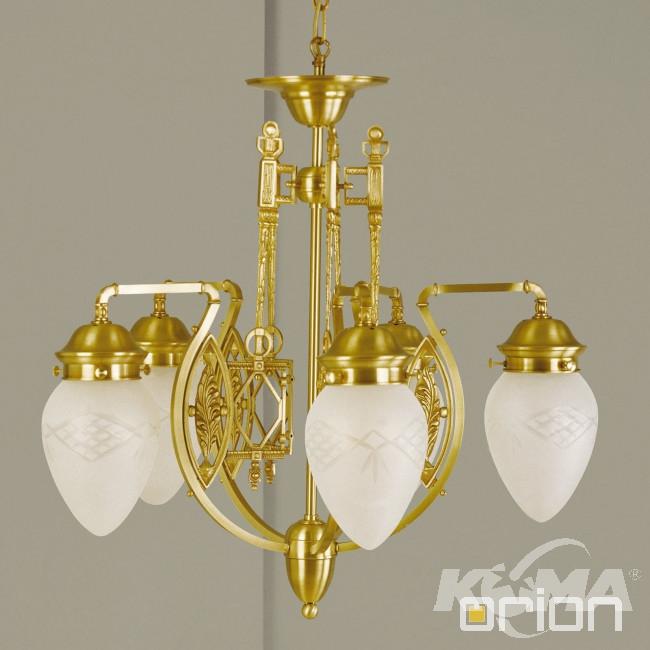 Budapest lampa wisząca żyrandol 5x60W E27 230V brązowa