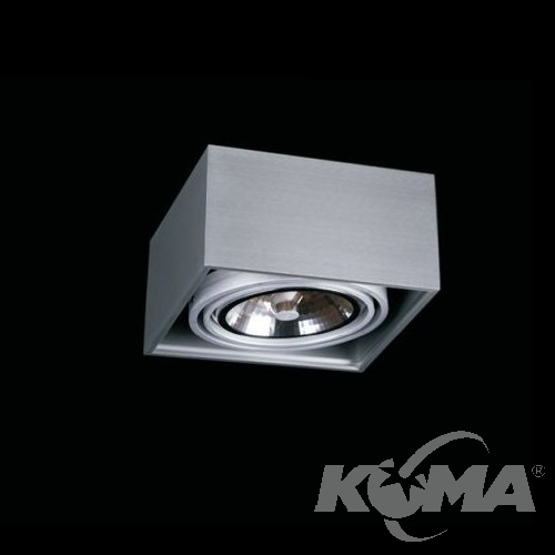 Box lampa sufitowa 1x50W G53 230V aluminium