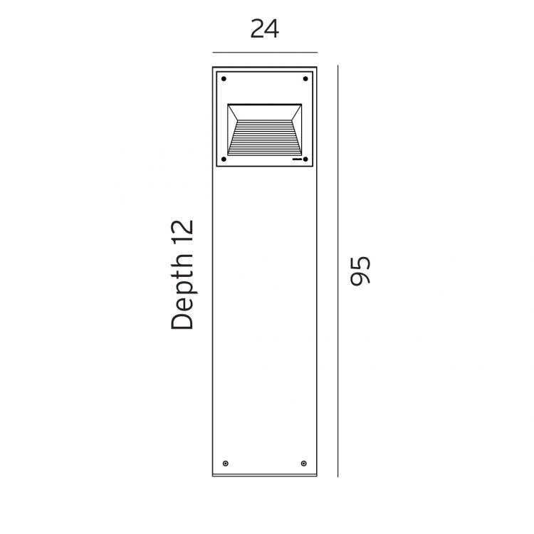 Namsos lampa stojąca zewnętrzna 95cm 13,2W LED 3000K 230V grafit