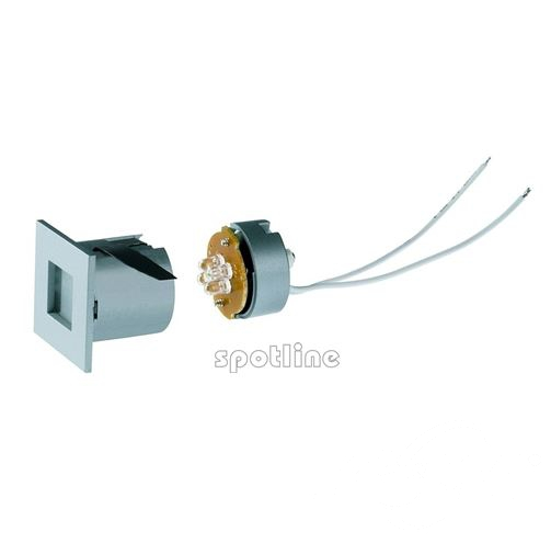 Mini frame oprawa wpuszczana LED 4x0.3W 12V srebrnoszara