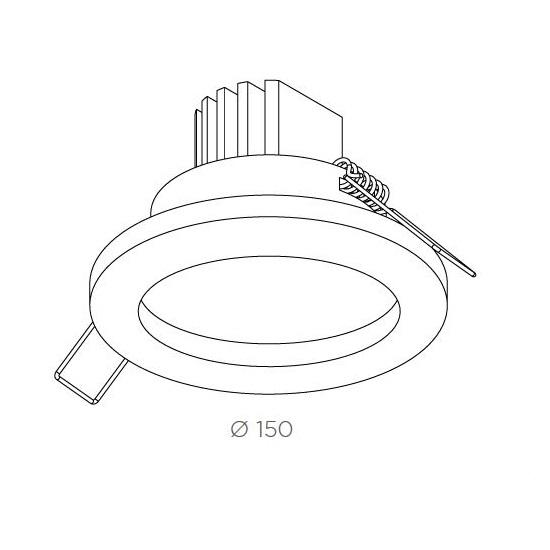 Classic oprawa wpuszczana aluminium szczotkowane Su BPM Lighting