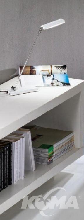 Lampa biurkowa 1x6W led wlacznik chrom/weiss