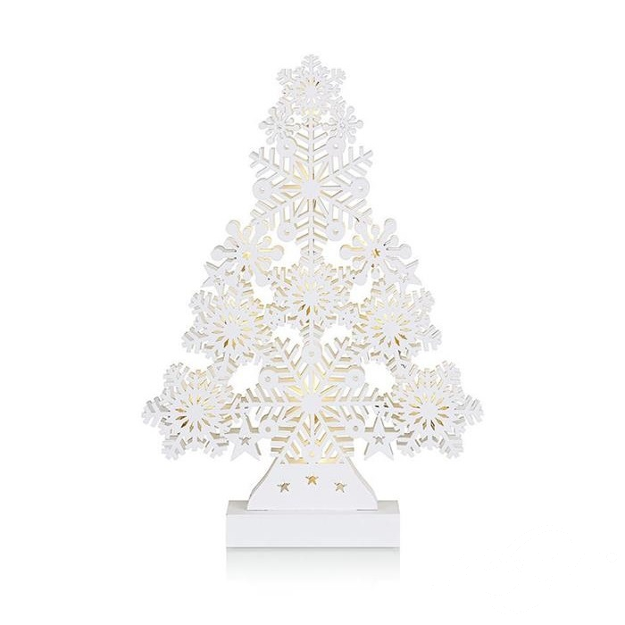 Prince dekoracja stołowa choinka 11x0,66W LED 3xAA biała