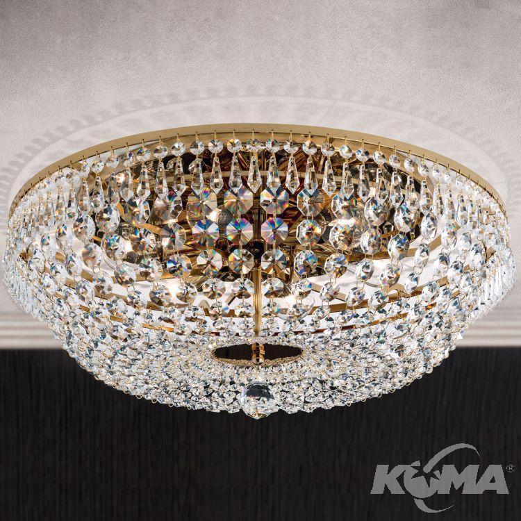 Kristall plafon 6xE27 sr.55cm gold
