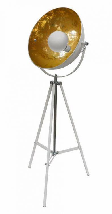 Antenne podlogowa lampa 1x60W E27 sand white/gold