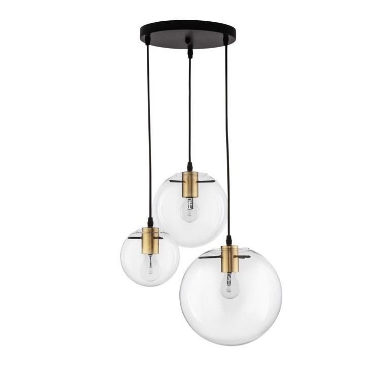 lampa wisząca czarna/złota Miracle