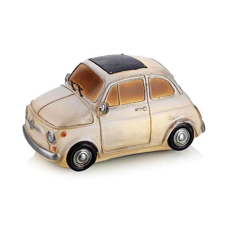 Nostalgi Fiat dekoracja stołowa 6x0,36W LED 3xAA biały/brudna biel
