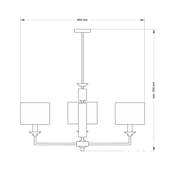 Artu oprawa wisząca 3xe14/60w chrom/czarne abażury