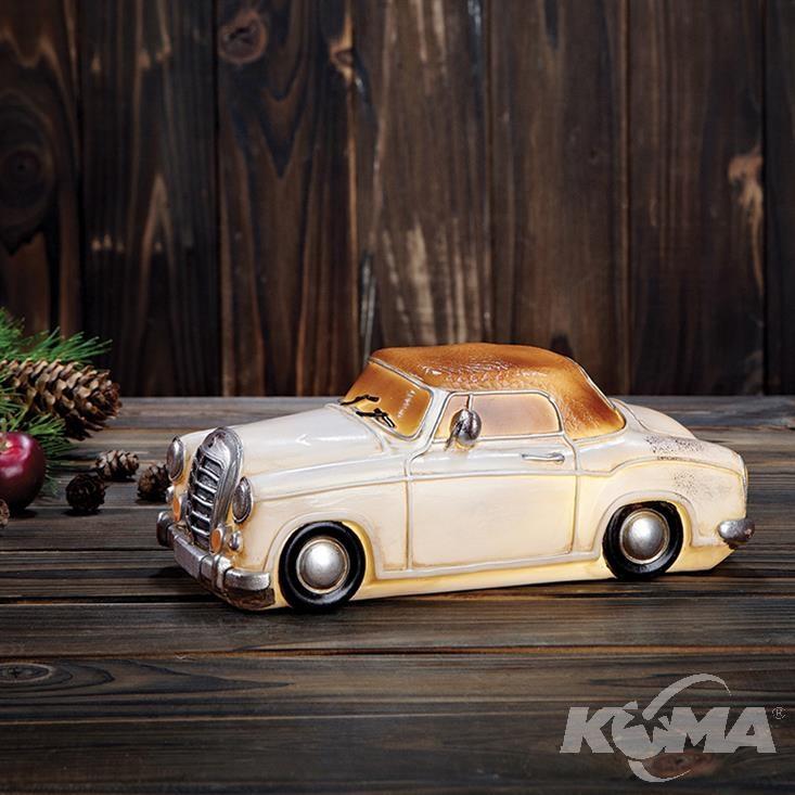Nostalgi Mercedes dekoracja stołowa 6x0,36W LED 3xAA biały/brudna biel