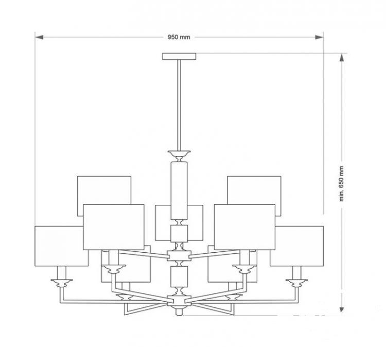 Artu oprawa wisząca 9xe14/60w białe abażury