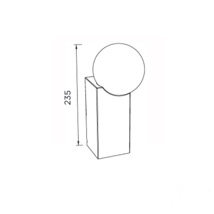 lampa stołowa chrom Ps-175/160 PUJOL ILUMINACION