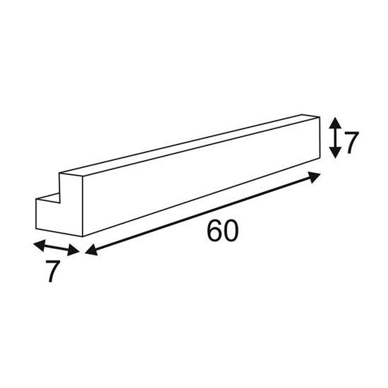 L-Line kinkiet łazienkowy 1x24W T5 230V srebrnoszary